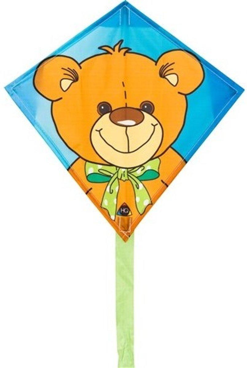 Invento Eenlijnskindervlieger Mini Eddy Teddy 30 Cm Blauw