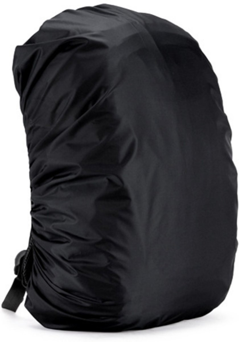BlezLiving - luxe & universeel - regenhoes voor rugzak - tas beschermer - 35 liter - waterdicht - zwart kopen