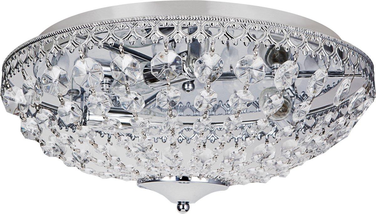 Stijlvolle Plafonniere Badkamer : Bol.com [lux.pro]® stijlvolle plafondlamp lydia chroom