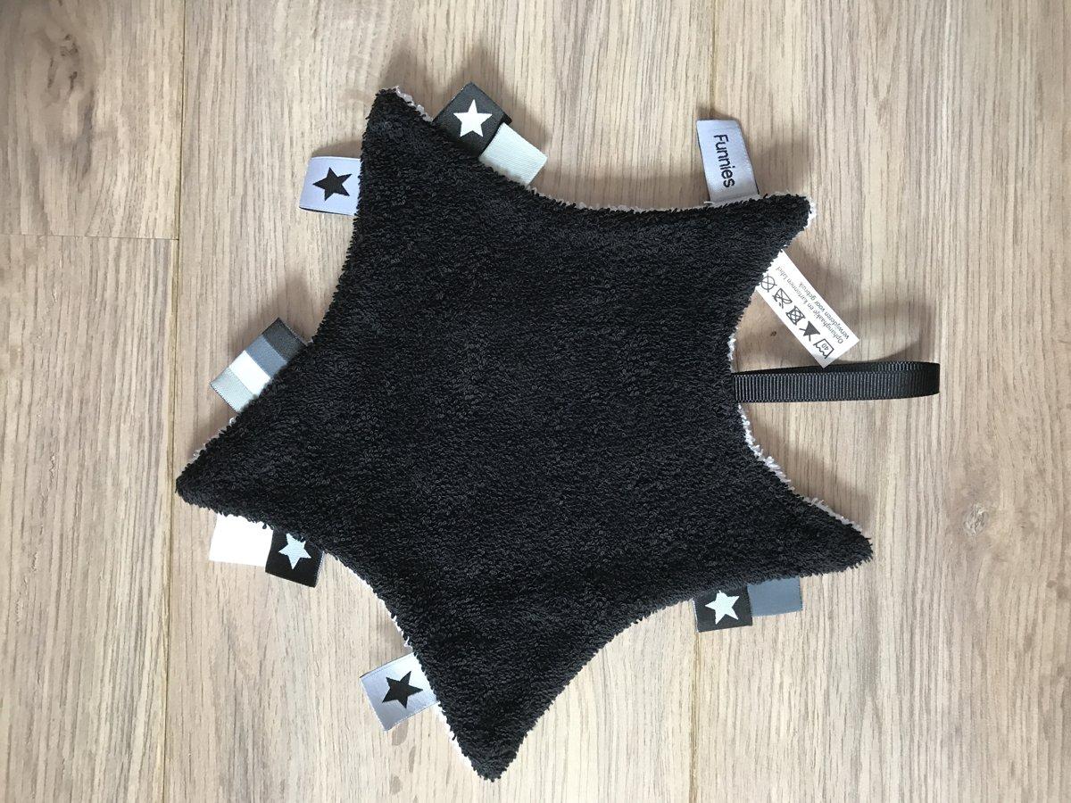 Ster labeldoekje zwart /wit kopen