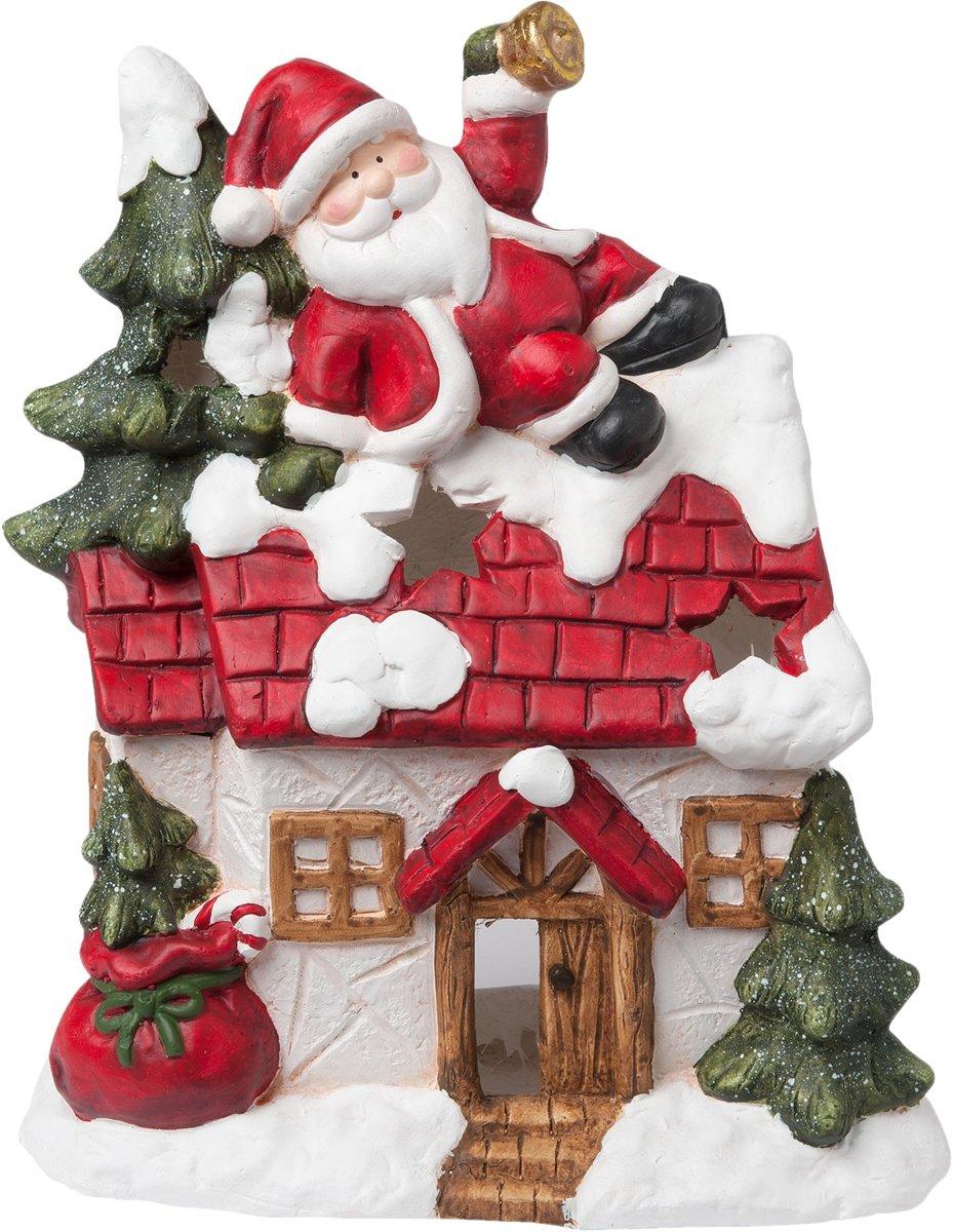 Clayre & Eef Kerstman huis 32x12x51 cm kopen