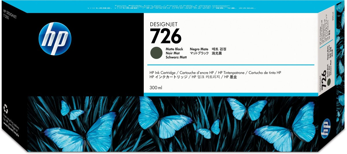HP 726 Inktcartridge - Mat Zwart kopen