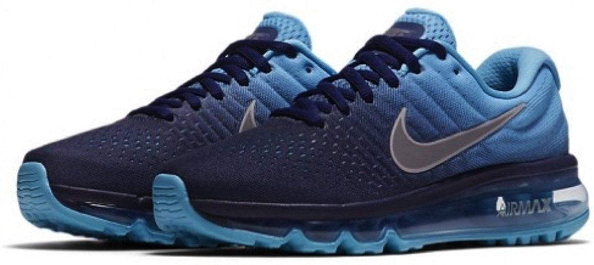 Nike Air Max 2017 Kinder Dames Sneakers Blauw 851622 401 Maat 38,5