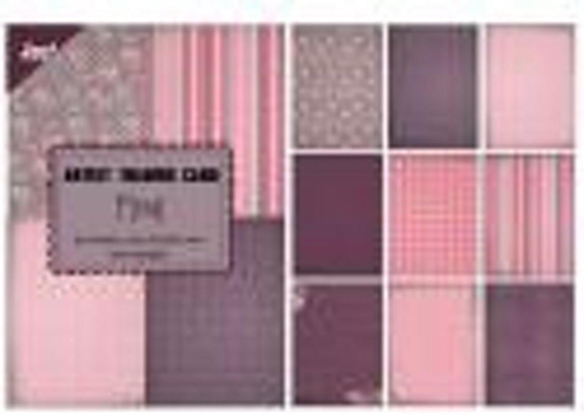 Papierblokje trading card, pocketletter/atc Floral 85 x 60 mm 36 sheets 4 x 9 designs