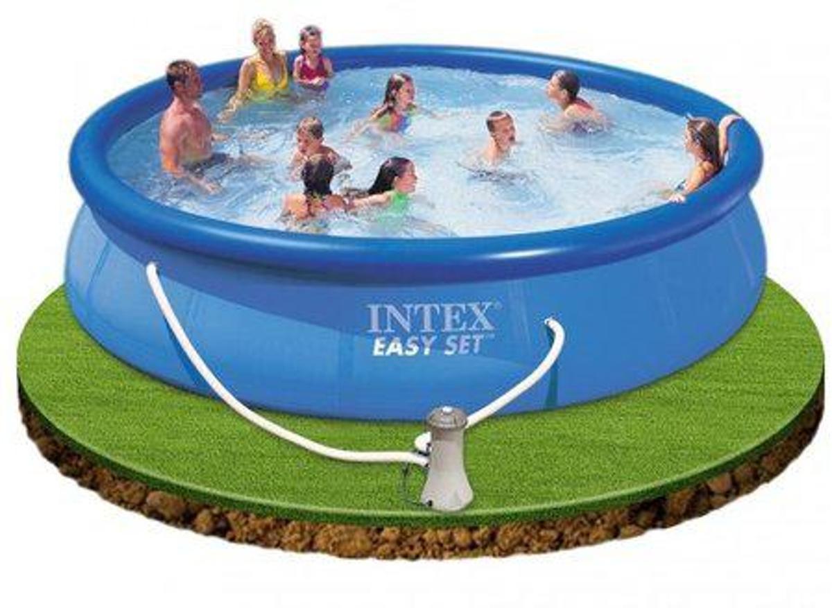 Intex Opblaaszwembad Easy Set Pool 457 X 84 Cm Blauw