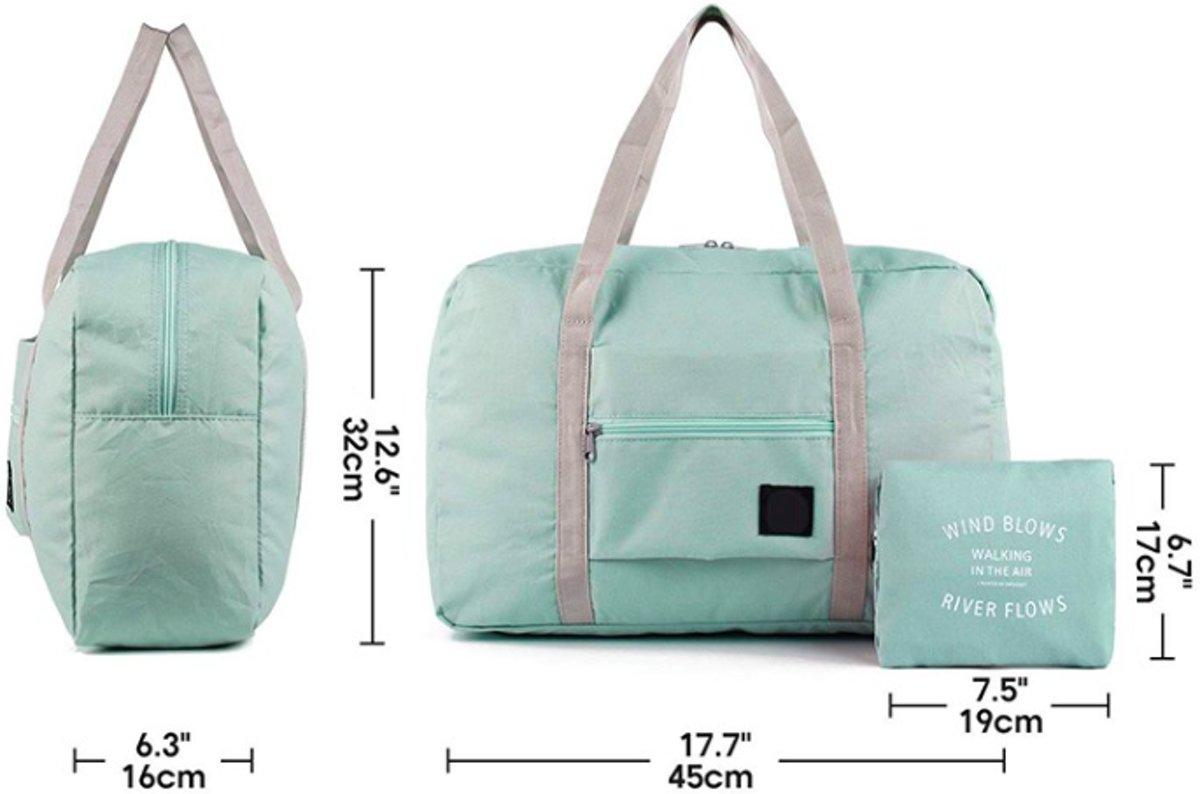 60d683bf621 bol.com | Opvouwbare reis tas duffel - Travel bag - Grote reis organizer -  Reistas Lichtblauw