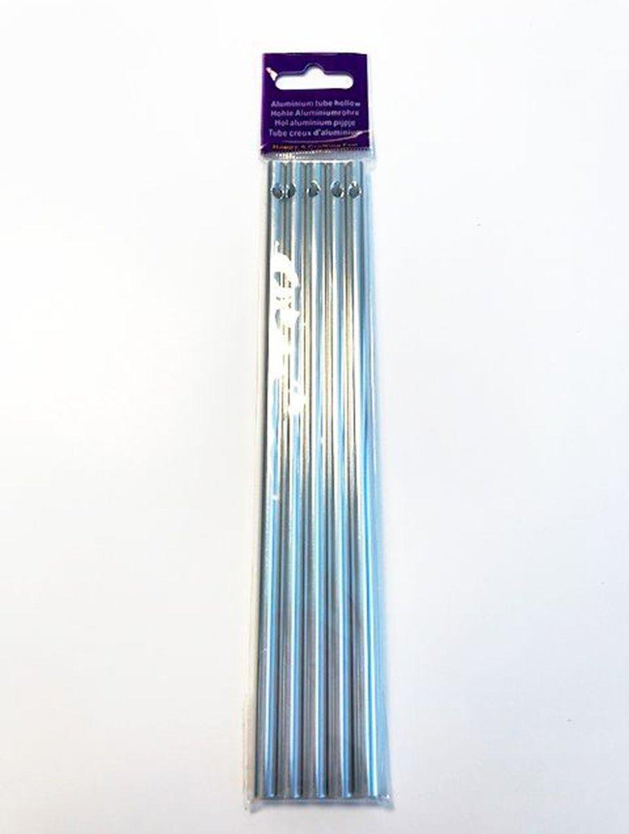 Windgong Tubes DIY - Zilverkleurig Aluminium - 6mm x 17cm - 20 Tubes kopen
