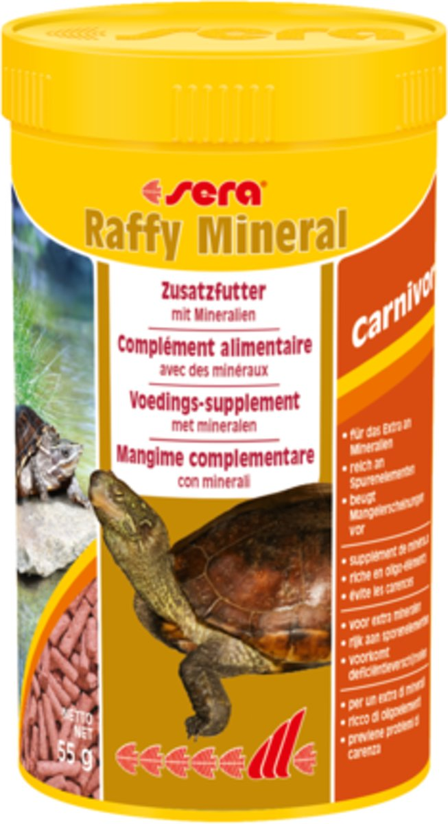 sera Raffy Mineral - 250ml - Reptielenvoer granulaat voor schildpadden