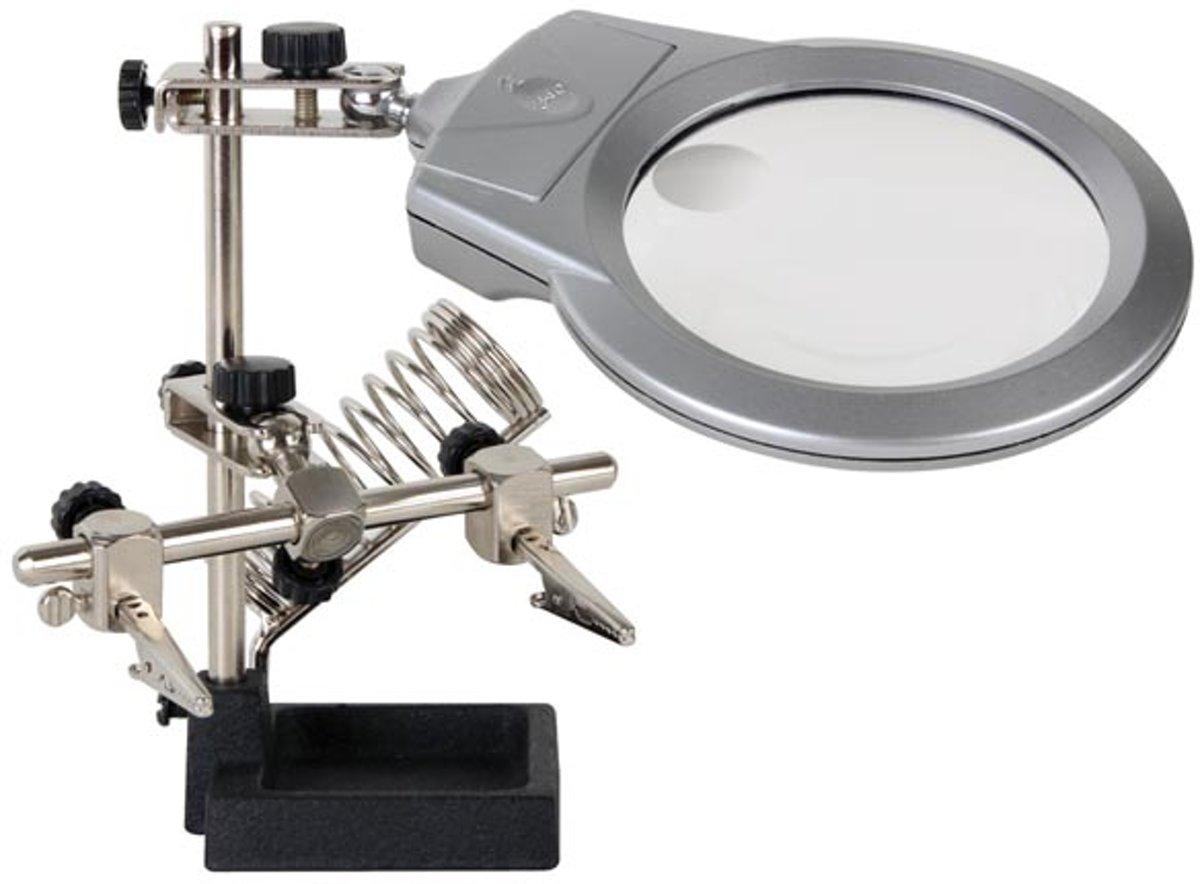 loeplamp voor Solderen met vergrootglas derde handje kopen