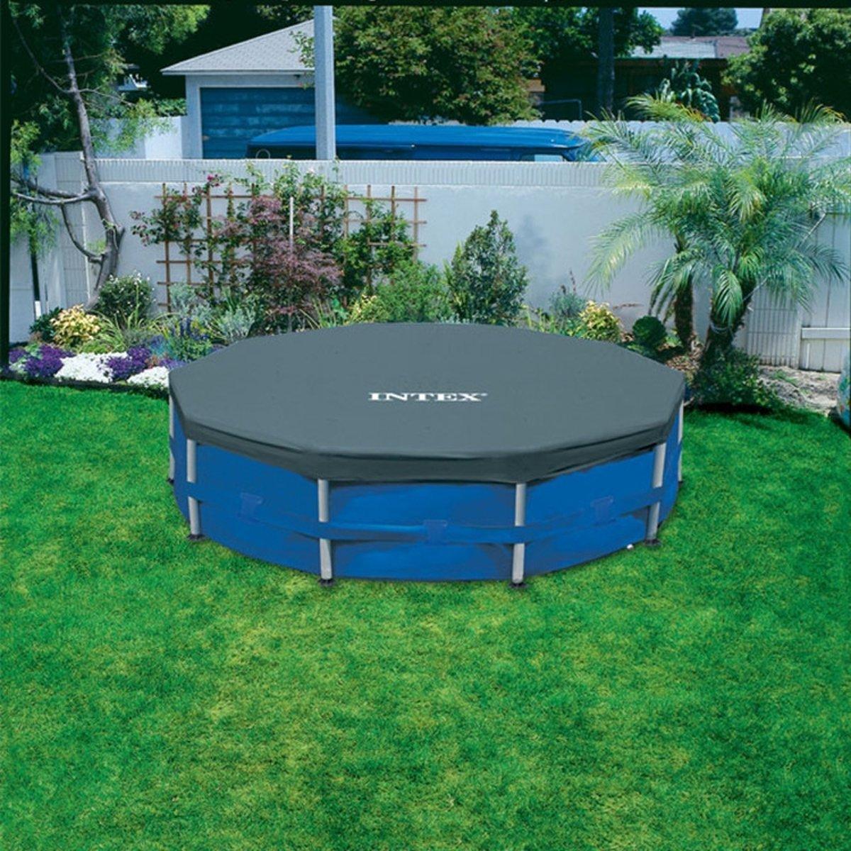 Intex afdekzeil rond voor frame pool 366 cm