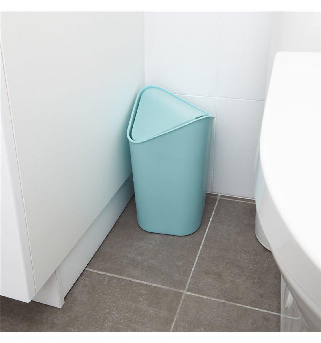 bol.com | Umbra prullenbak 5 liter mini corner - Kleur - Surf Blauw