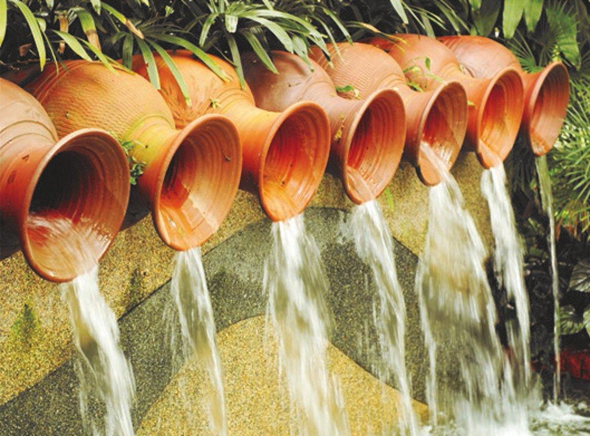 Tuinposter waterkruiken