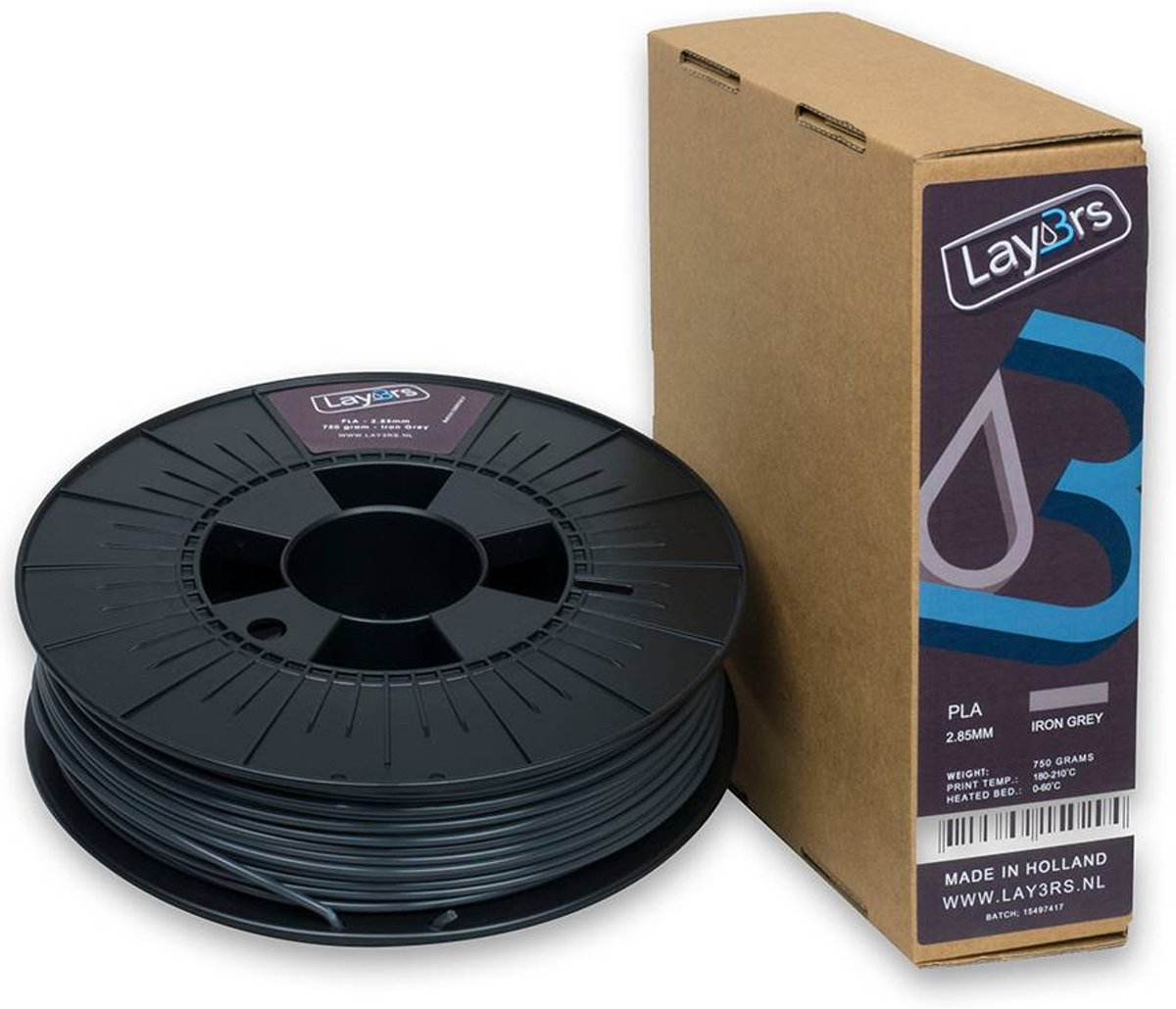 Lay3rs PLA Iron Grey - 1.75 mm
