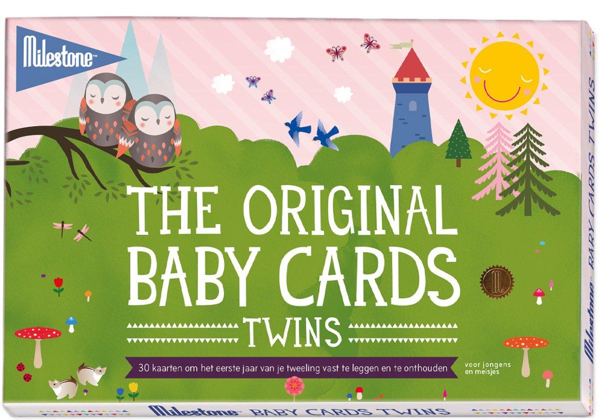Baby photo cards twins original