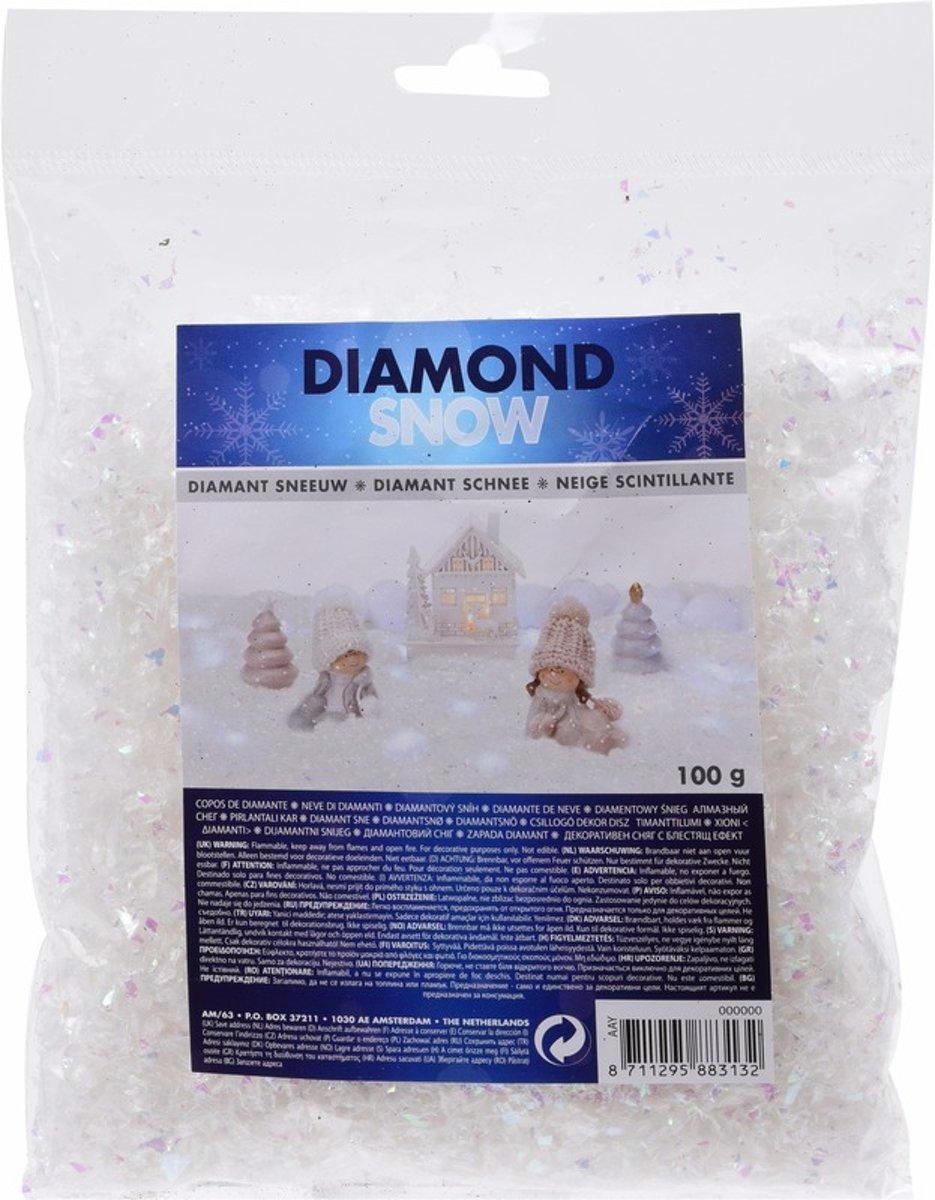 Strooi sneeuw parelmoer 100 gram kopen
