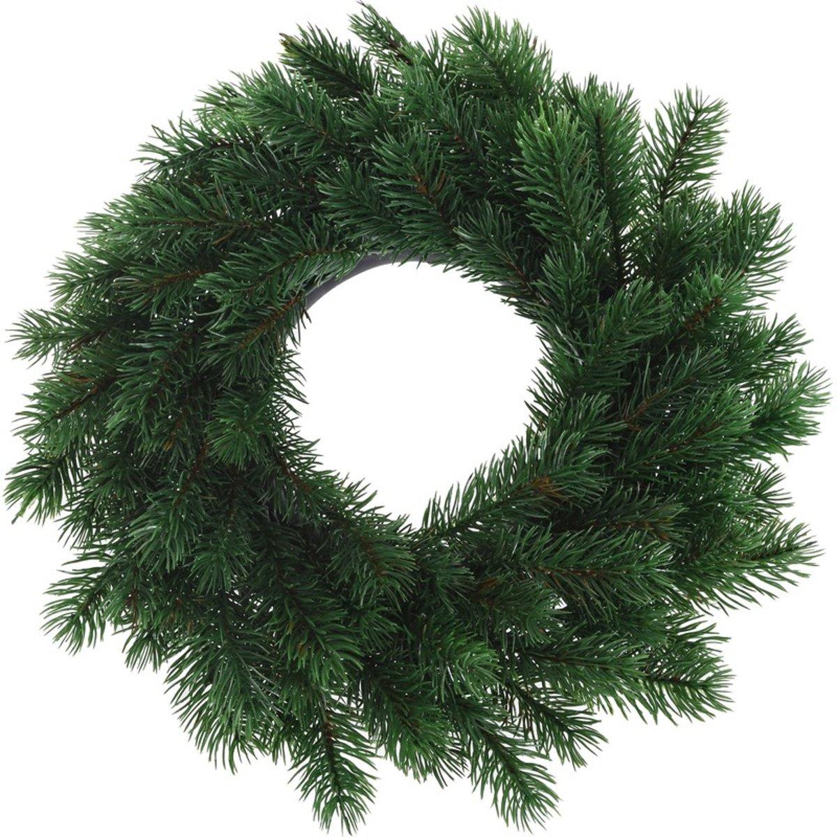 Kunst kerstkrans groen 35 cm kopen