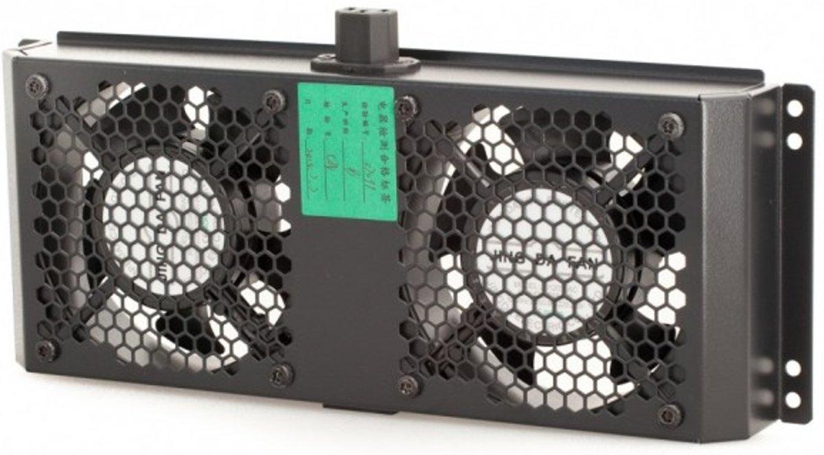 Basic 1 set Universal ventilator met 4 ventilatoren, boven gemonteerd, zwart kopen