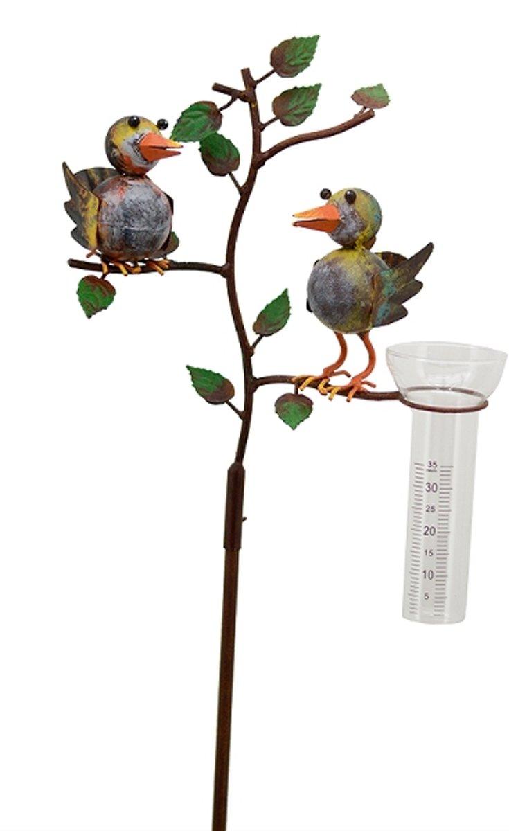 Regenmeter met 2 gekleurde vogels kopen