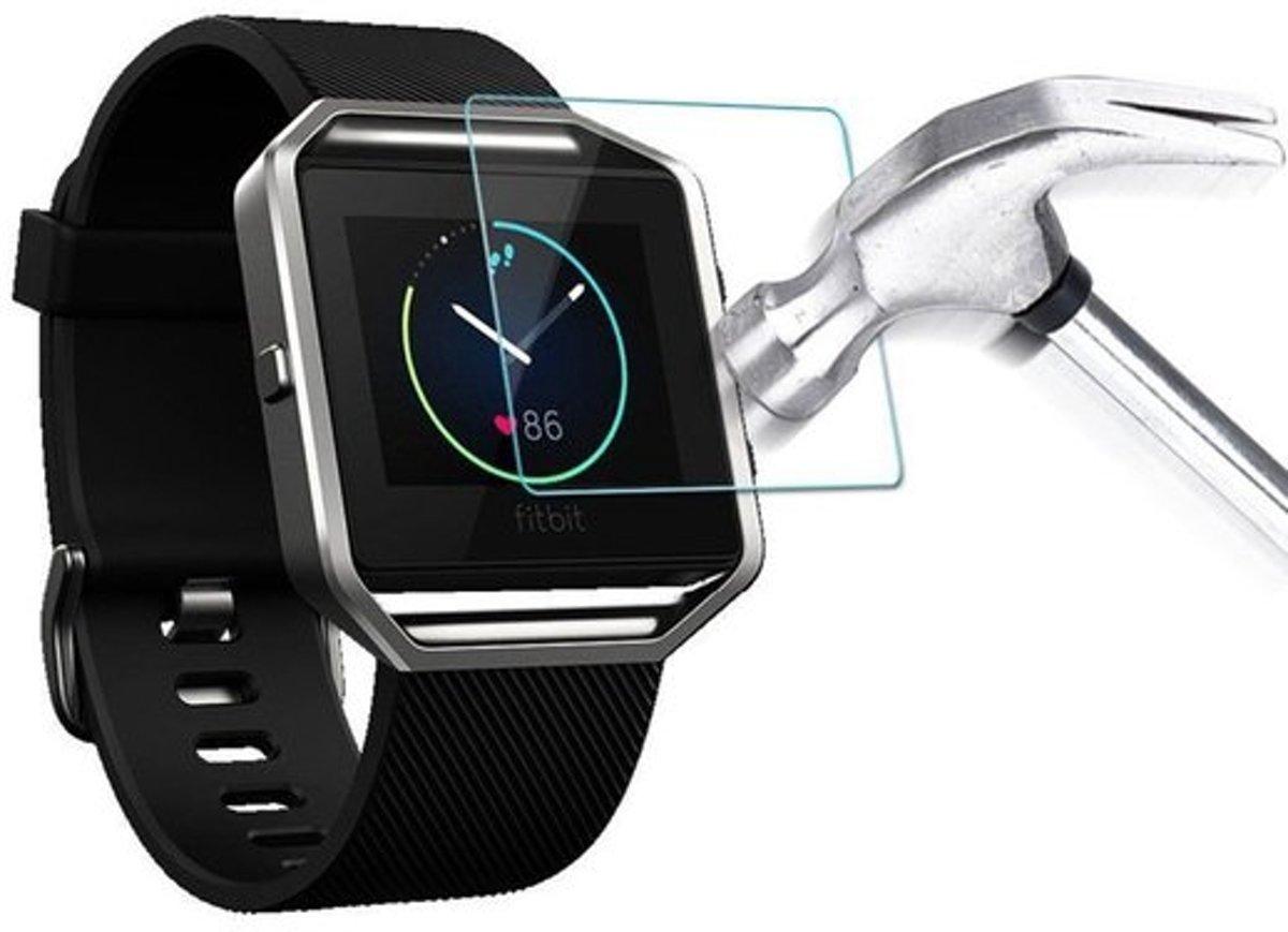 Screenprotector Voor Fitbit Blaze - Full Coverage Tempered Glass Ultradun Gehard Glas kopen