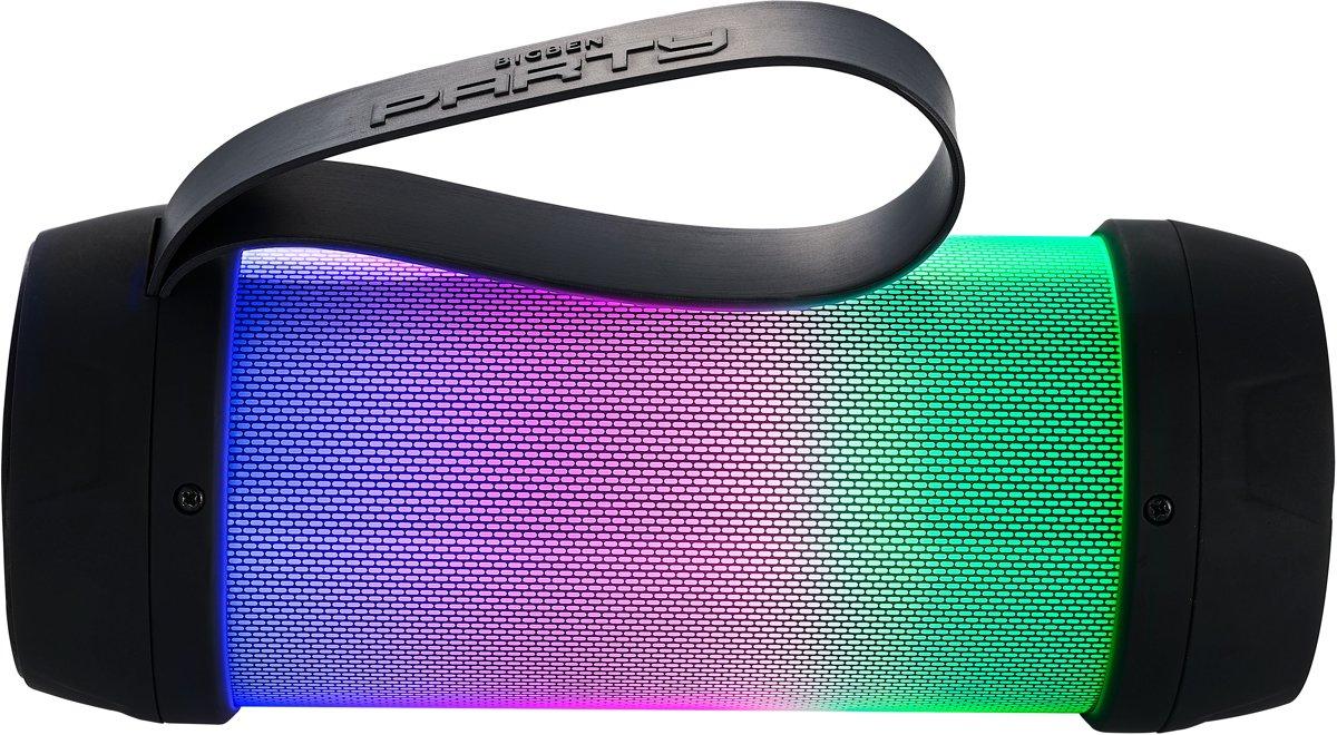 Bigben Party Onyx Bluetooth Speaker Mini - LED-verlichting - Zwart kopen