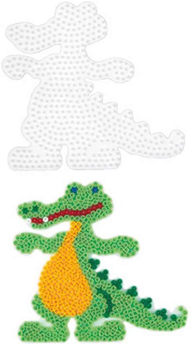 Hama grondplaat grote krokodil voor strijkkralen (strijkkralenbordje)