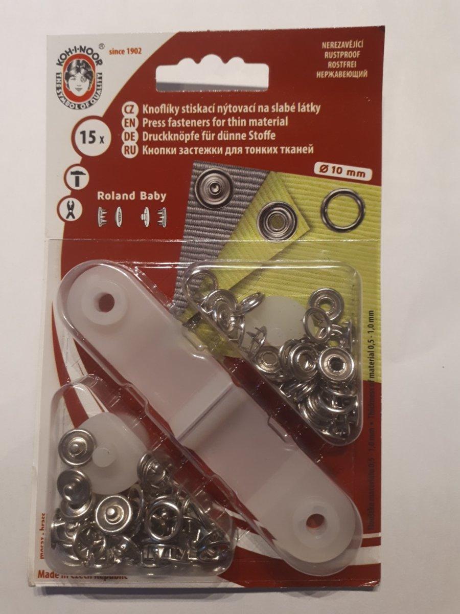 Babydrukkers zilver. Open ronde drukknopen. 10mm doorsnee.