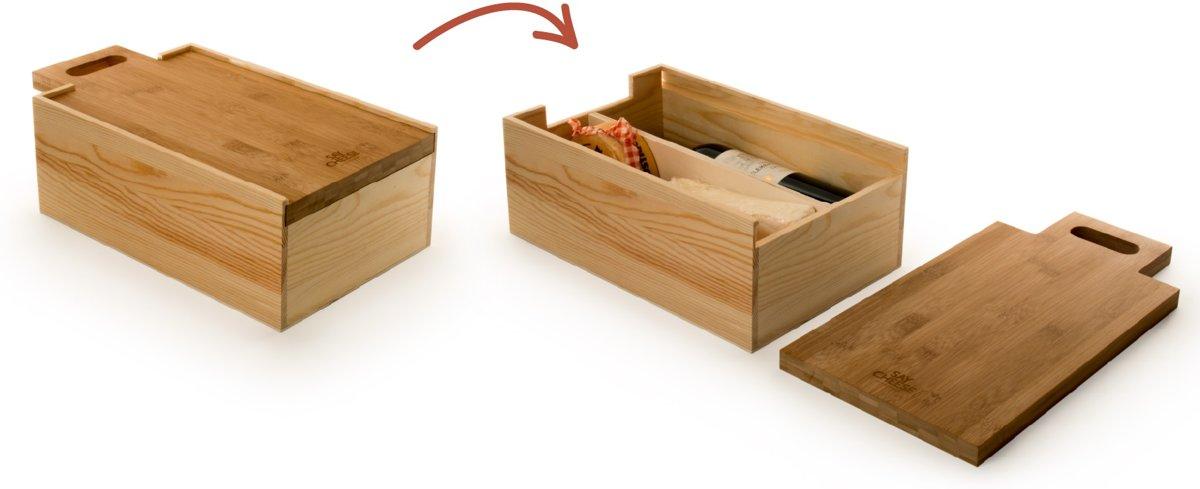 Rackpack Say Cheese - Wijnkistje - Geschenkdoos kopen