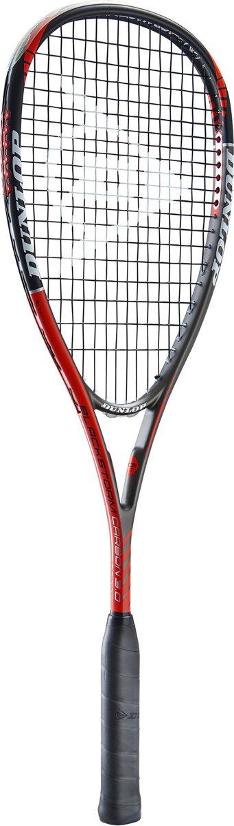 Dunlop BLACKSTORM CARBON 3.0 - Zwart/rood- Squashracket