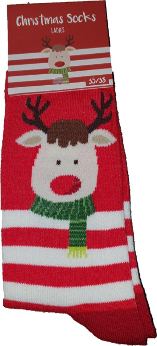 Rendier kerstsokken voor de dames - Kerstsokken dames - Kerstsokken kerst - kerstsok rendier - Maat 35/38 - MOETEN WEG NU €9,95!! kopen