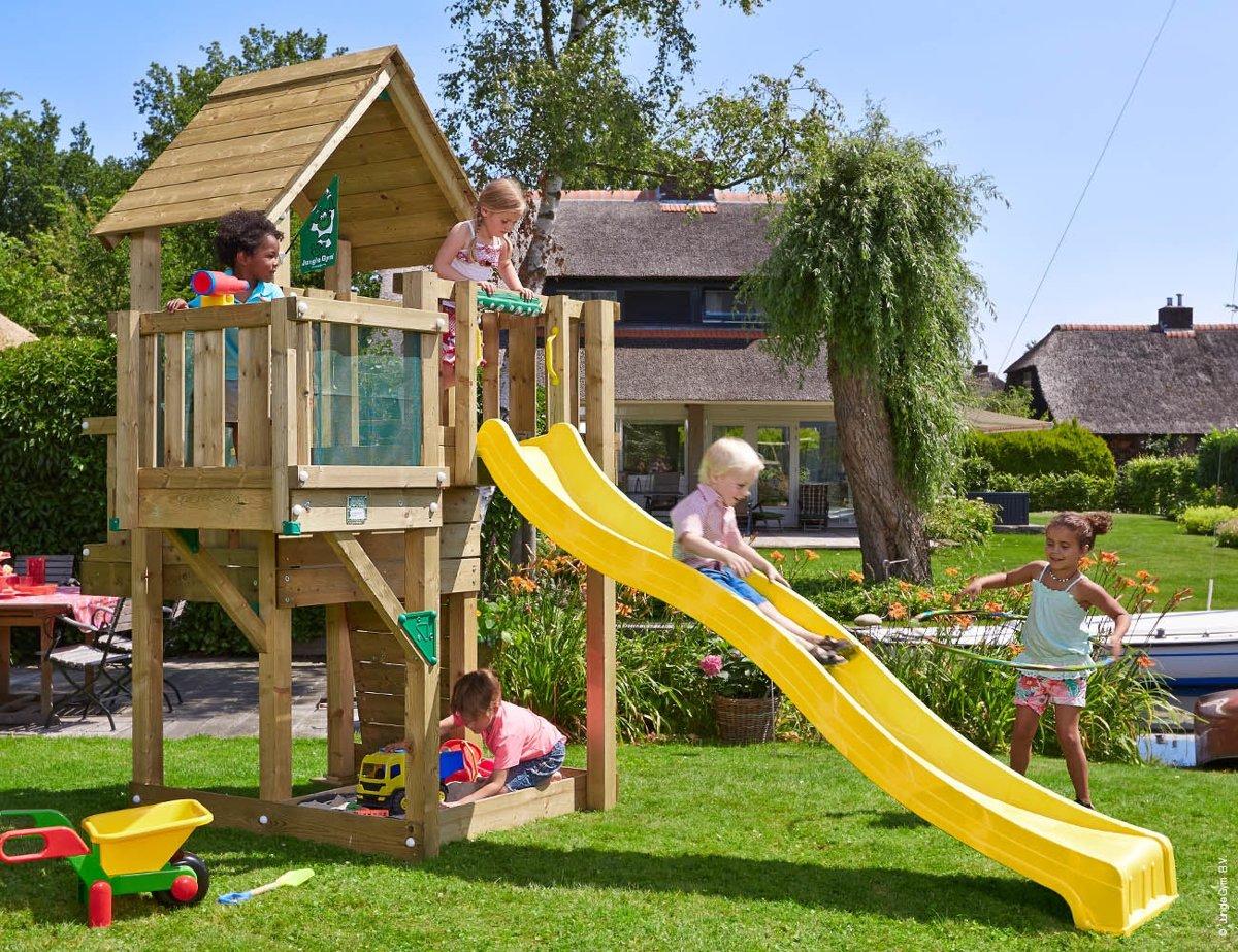 Speeltoestel Kleine Tuin : Jungle gym cubby balcony houten speeltoestel tuin met glijbaan