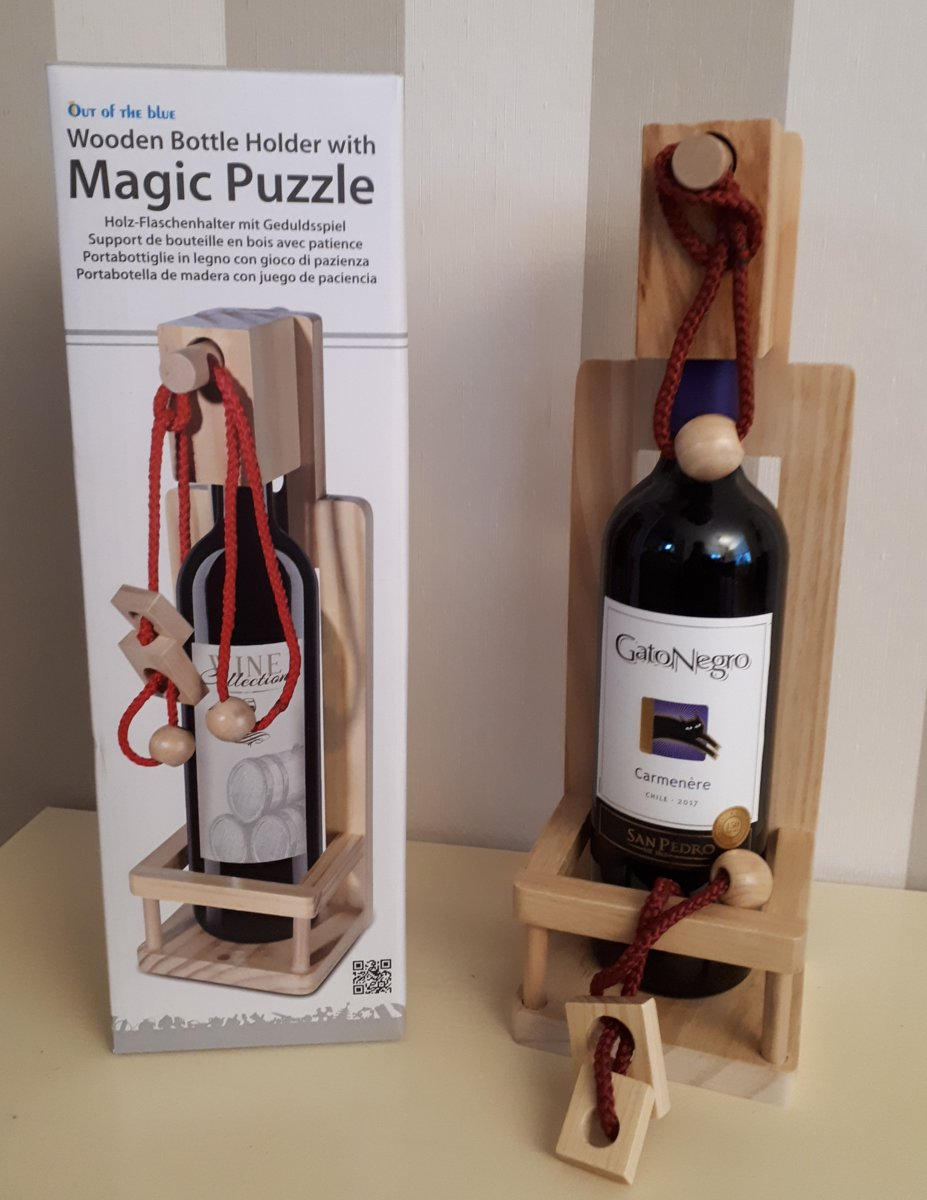 Magic houten flessen puzzel