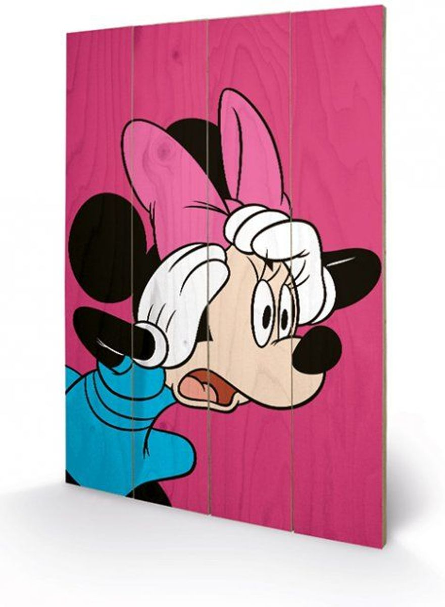 DISNEY - Printing on wood 40X59 - Minnie Mouse Shocked kopen