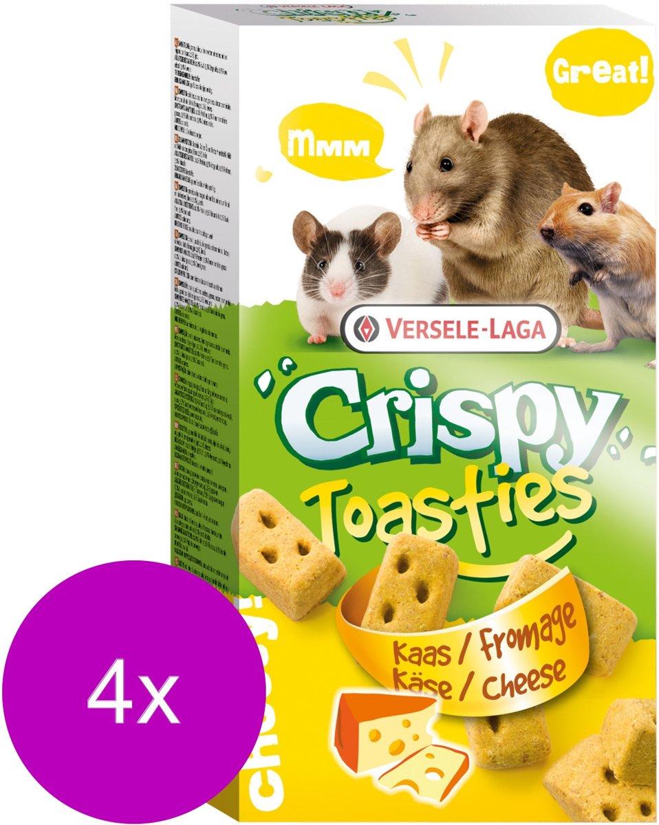 Versele-Laga Crispy Toasties - Knaagdiersnack - 4 x Kaas 150 g