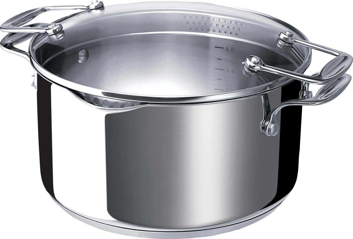 BEKA Chef Pratique Kookpan Met Afgietdeksel - Inox - 2L3 -Ø 20 cm