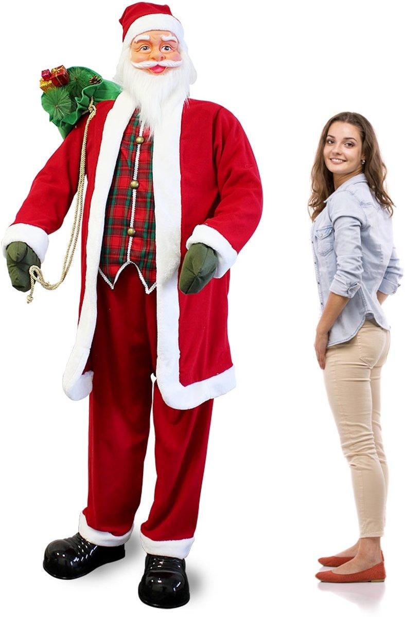 Zingende en dansende Kerstman - 200x80x70cm kopen