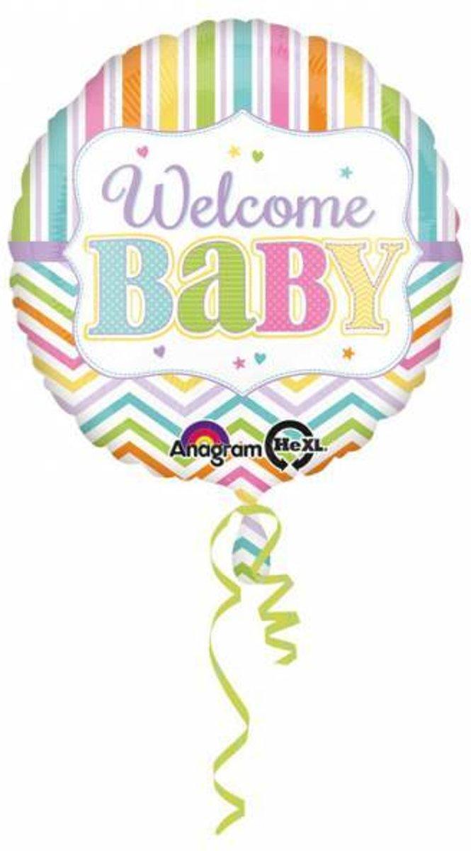 Helium Ballon Geboorte Welkom Baby 43cm leeg kopen