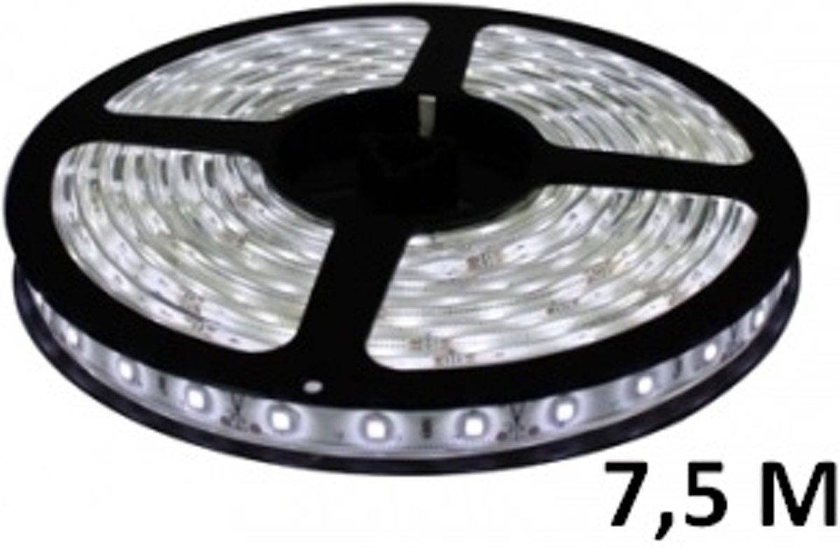 7,5 meter - koud wit - LED strip - 24 volt - 3528 SMD - waterdicht - dimbaar kopen