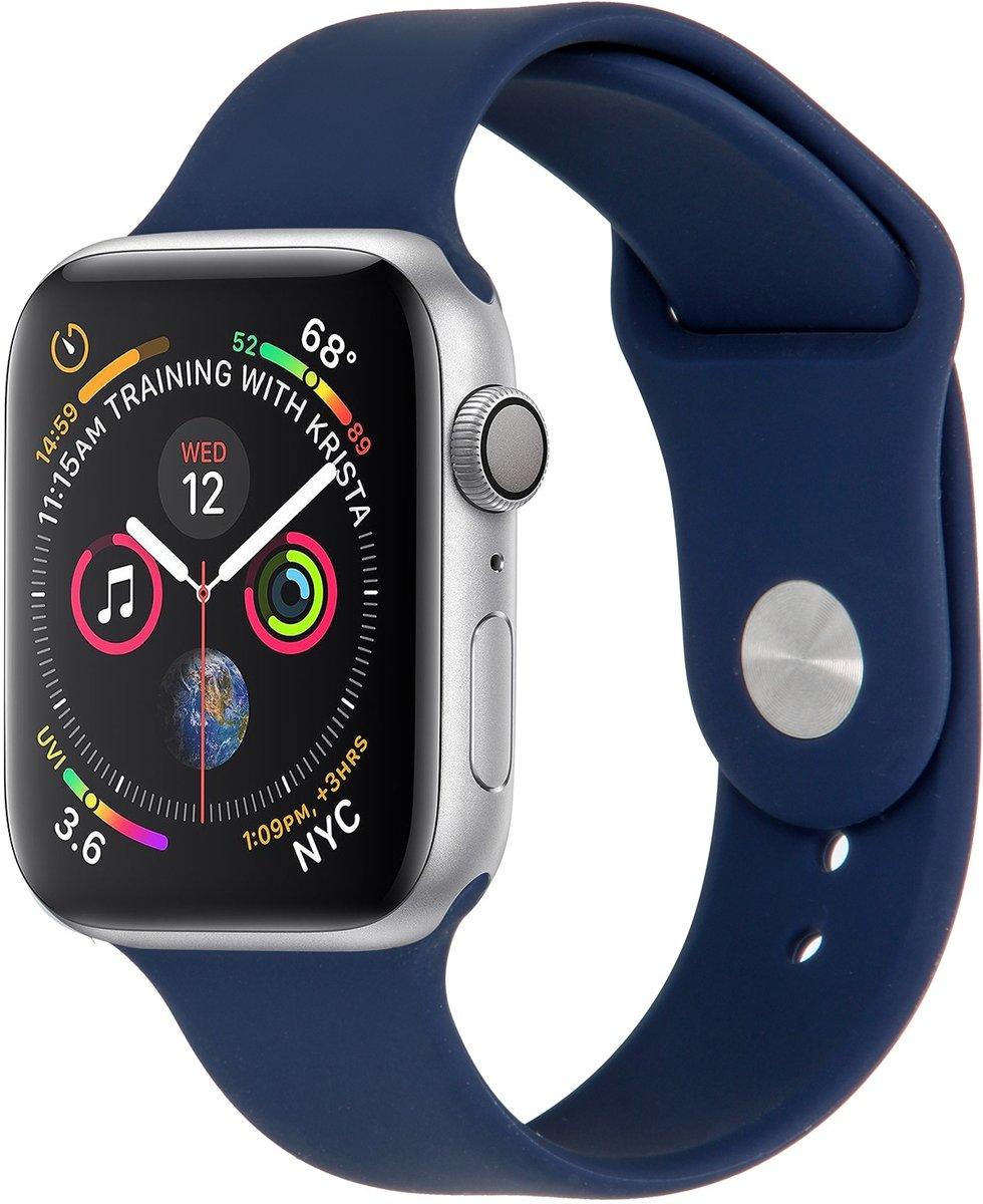 Blauw siliconen sport bandje voor de Apple Watch 44 mm / 42 mm kopen