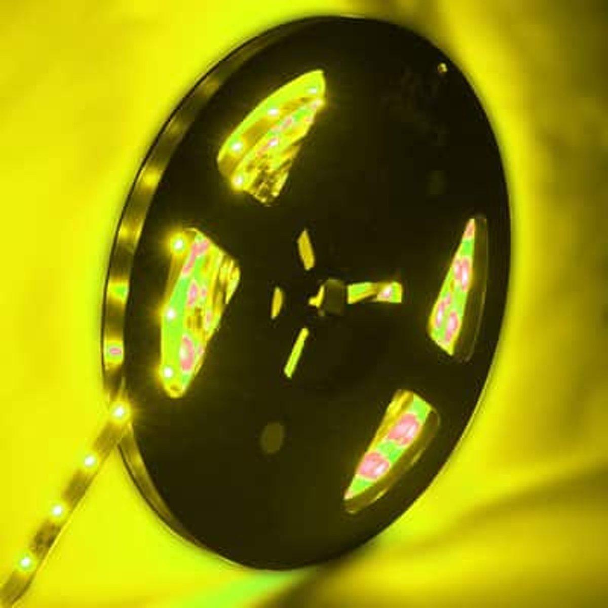 4.8W Bare Board Rope Light, lengte: 5 m, geel licht 3528 SMD LED, 60 LED / m, DC 12V kopen