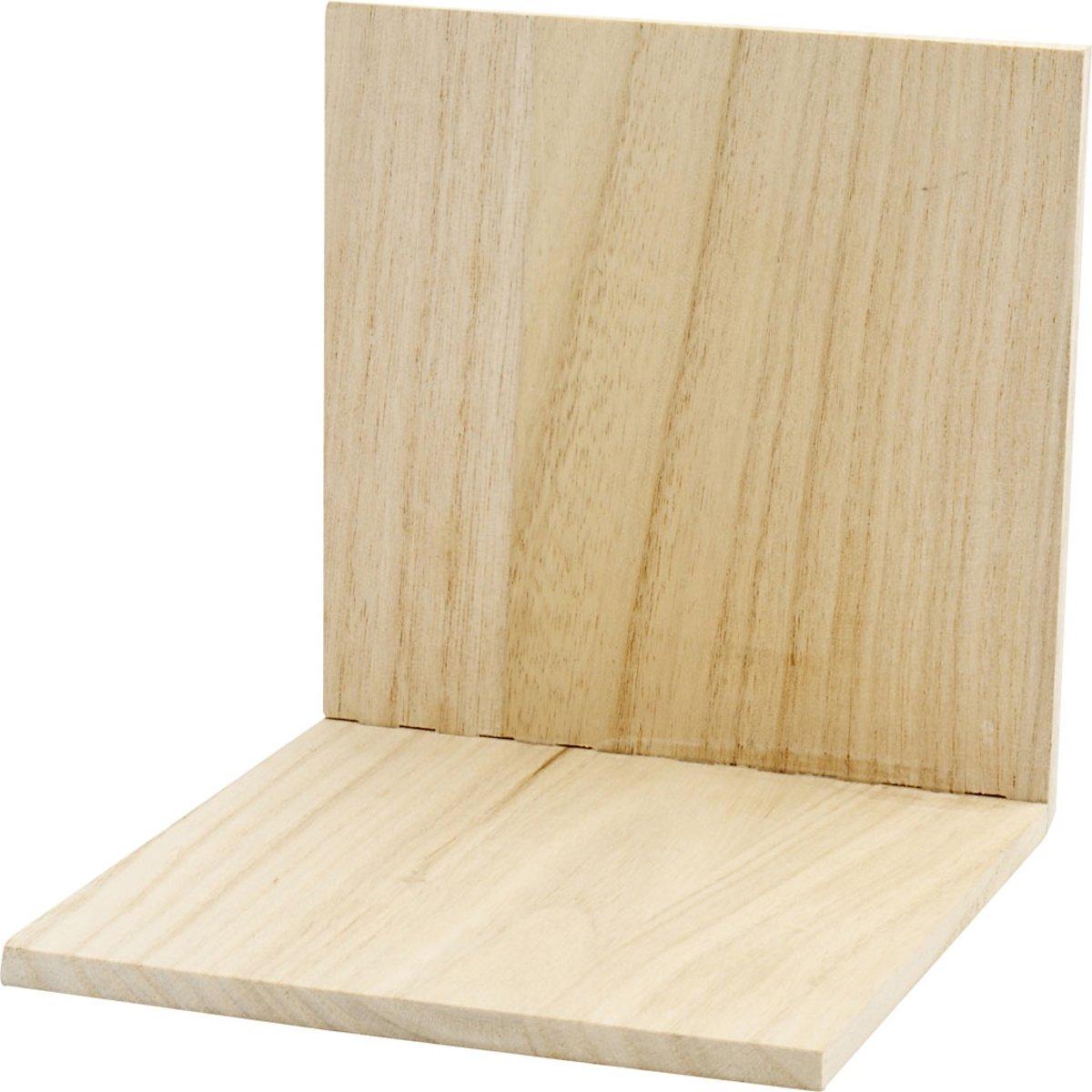 Boekensteun, afm 15x15x15 cm, Keizerin boom, 1stuk [HOB-57649] kopen