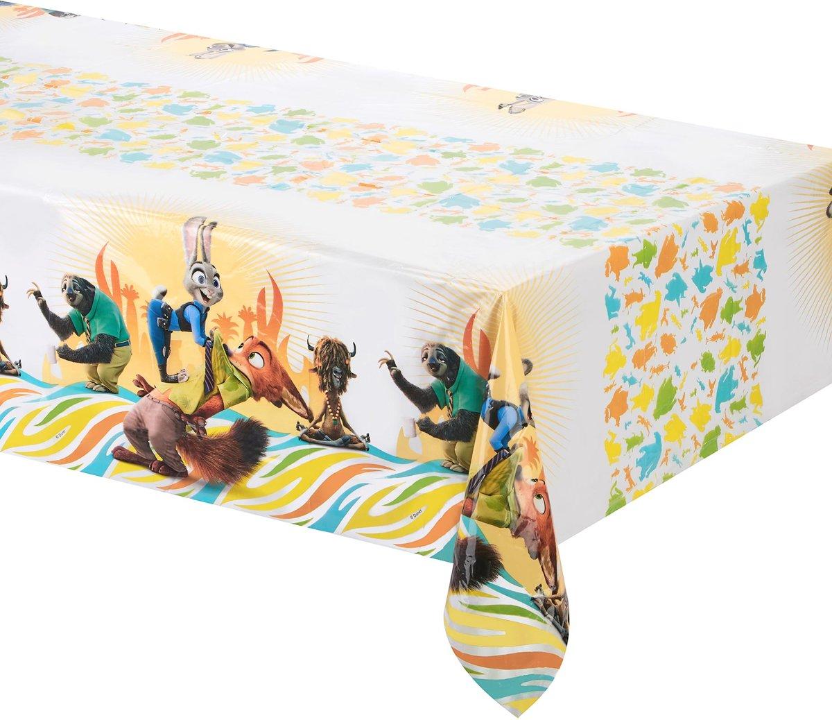 Plastic Zootropolis™ tafelkleed - Feestdecoratievoorwerp