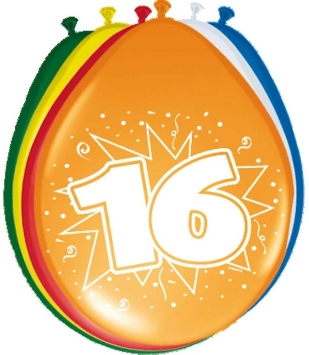 16x stuks Ballonnen versiering 16 jaar kopen