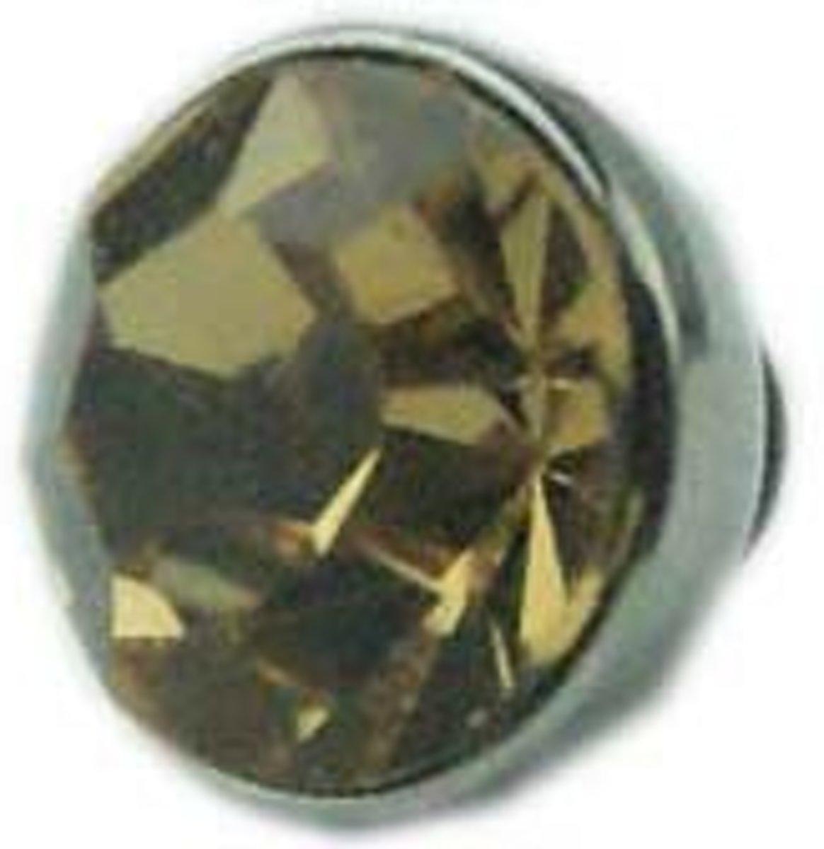 Diamand Ring Element - Los Sieraden Onderdeel - Zilver/Taupe-Kristal kopen