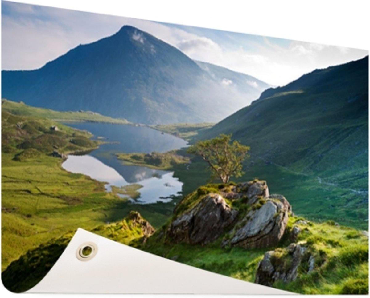 Landschap in Wales Tuinposter 120x80 cm - Foto op Tuinposter (tuin decoratie) kopen