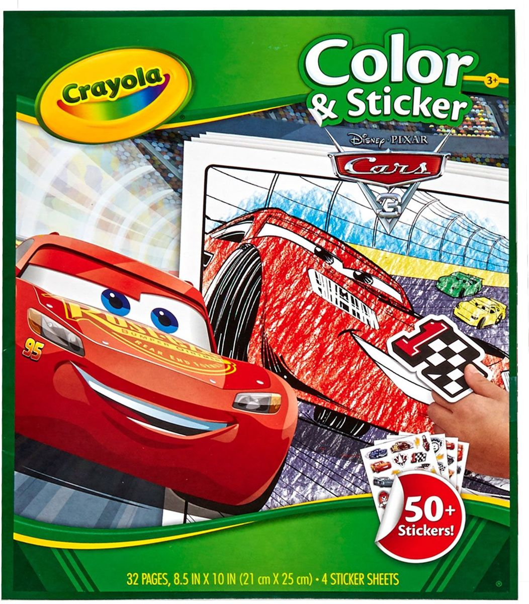 Crayola Cars 3 Kleurboek met stickers kopen