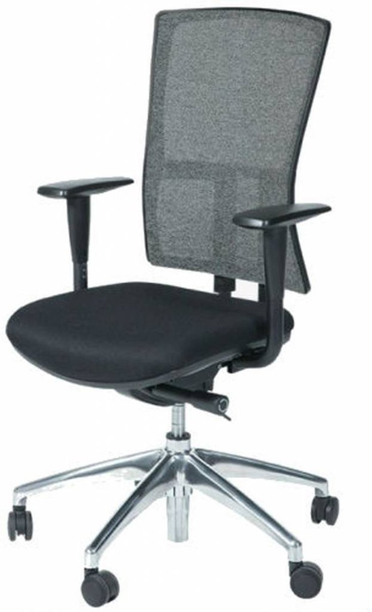 Schaffenburg Bureaustoel - 300-NEN zwart ond. zitting stof, rug wol zw/zw kopen