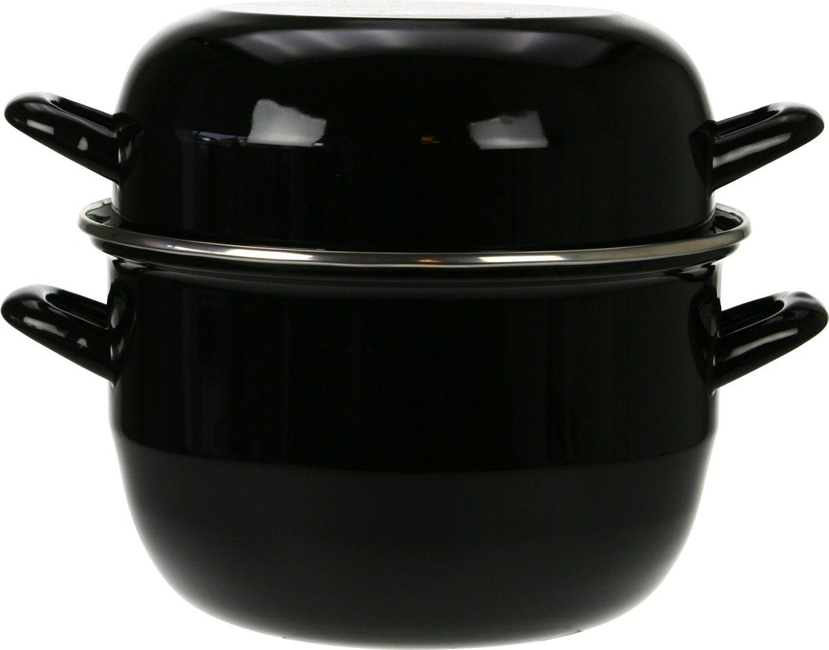 Cosy&Trendy Mosselpan - Zwart - Ø 18 cm -  1 kg