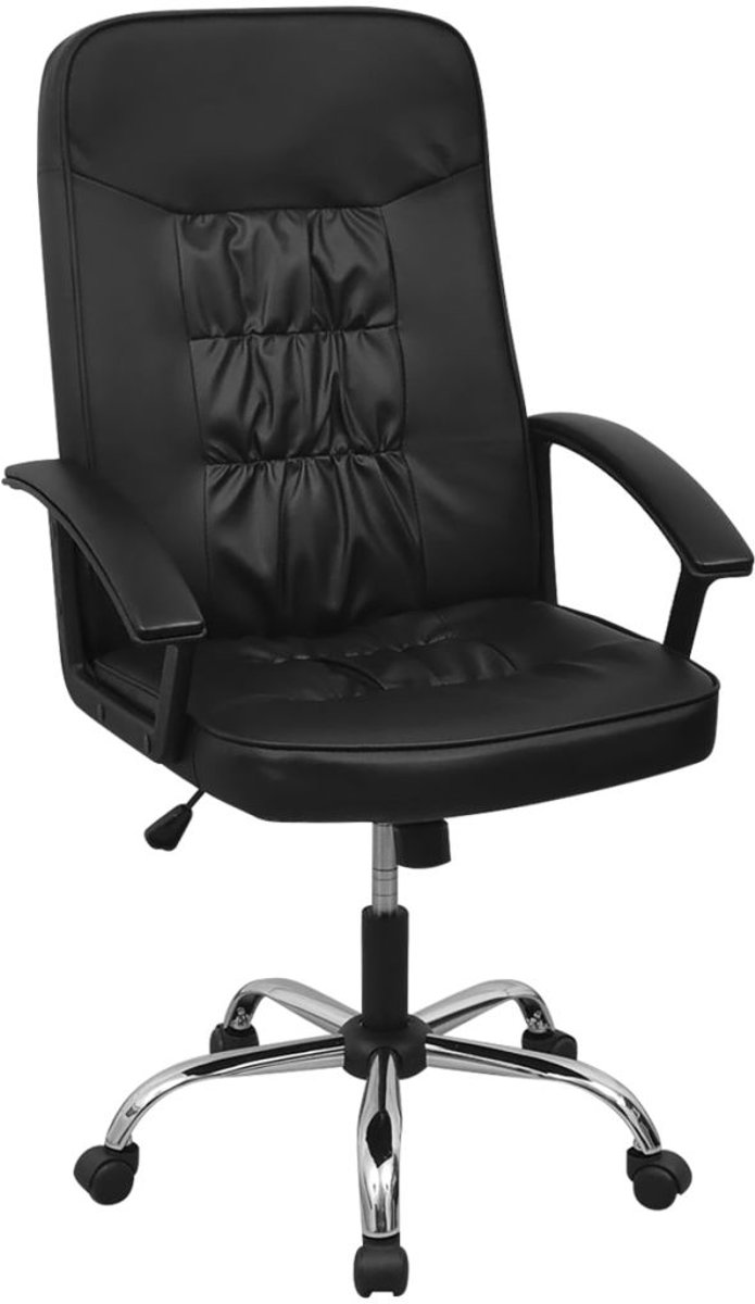 vidaXL Bureaustoel 67x70 cm kunstleer zwart kopen