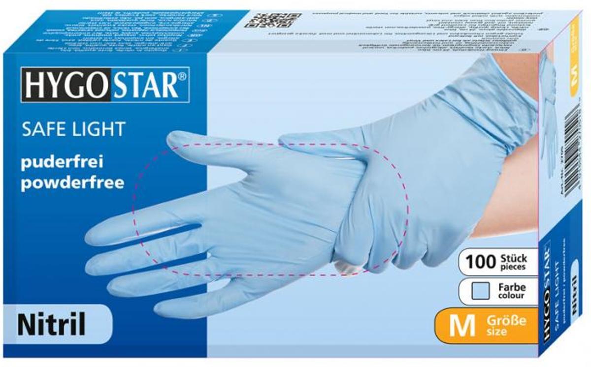 Nitril poedervrije handschoenen blauw maat XS kopen