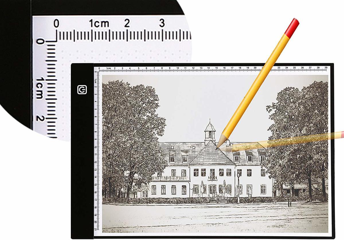 Heldere A4 Lightpad - PRO editie - Traploze dimbare dunne lichtbak / tekentafel kopen